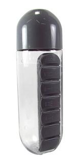 Garrafa De Plastico Com Porta Comprimidos - 600ml