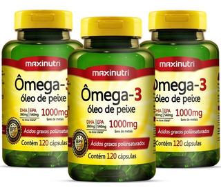 Ômega 3 Óleo De Peixe 1000mg - 360 Cápsulas - Maxinutri