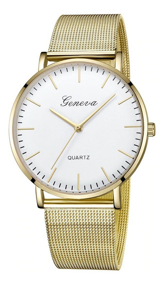 Relógio Geneva Charmoso Est. Social Elegante Básico Simples