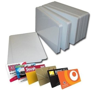 50 Tarjetas Para Credenciales En Pvc Inyeccion Tinta Epson