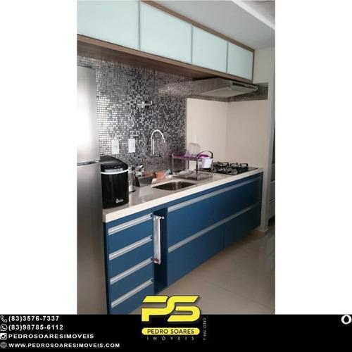 (mobiliado) Flat Com 1 Dormitório À Venda, 39 M² Por R$ 300.000 - Manaíra - João Pessoa/pb - Fl0170