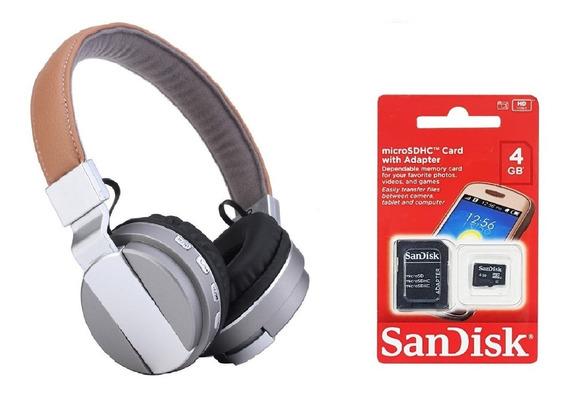 Fone De Ouvido Headphone Sem Fio Bluetooth Micro Sd Wireless