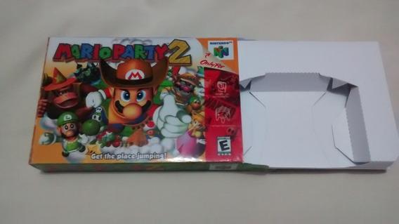 Caixa Com Berço Mario Party 2 Nintendo 64 Leiiia