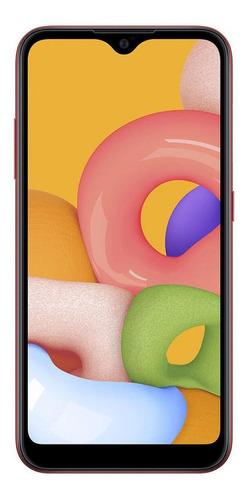 Celular Smartphone Samsung Galaxy A01 A015m 16gb Vermelho - Dual Chip