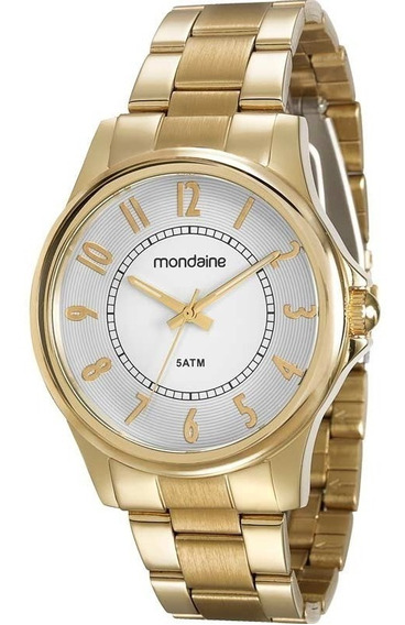 Relógio Mondaine Feminino Dourado Original Nota 78656lpmvda1