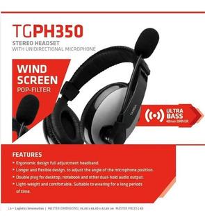 Auricular Gamer Streaming Cerrado Con Microfono Targa Ph350