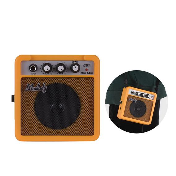 Muslady 5w Mini Guitarra Amplificador Amp Alto-falante Com 3