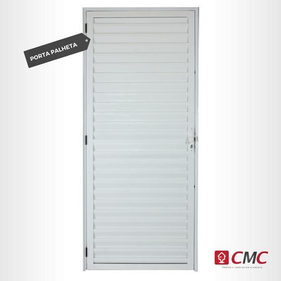 Porta De Alumínio Branco Palheta 210x80/ 70/60 (emborrachada