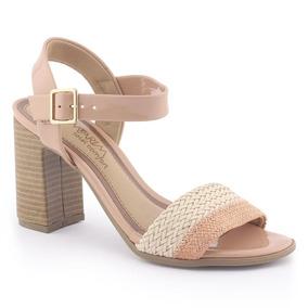 34ffd01dca Sandalias Com Salto Robusto Rosa Ramarim - Sapatos para Feminino no ...