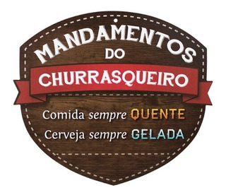 Placa De Parede - Mandamentos Do Churrasqueiro - Kathavento