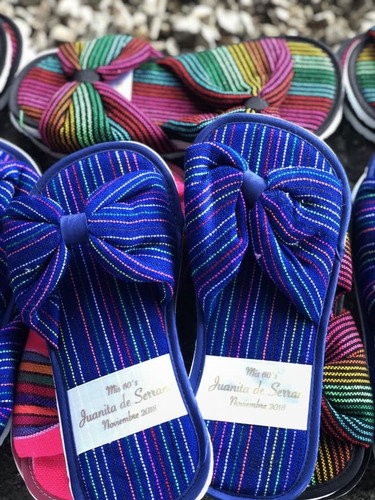 Pantuflas Mexicanas Colores Recuerdos Para Boda Xv