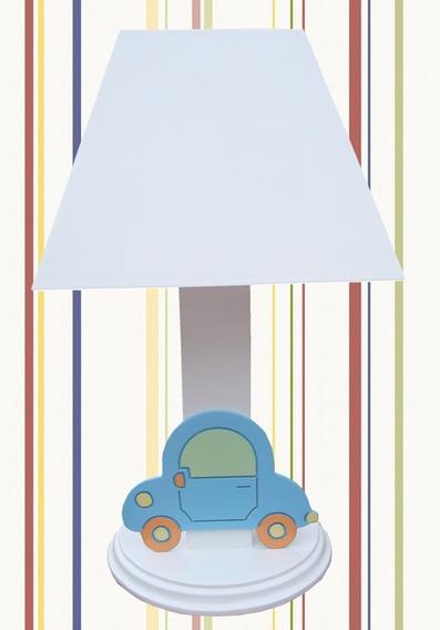 Abajur Luminária Cúpula Branca Brinquedo Fusca Carrinho Car