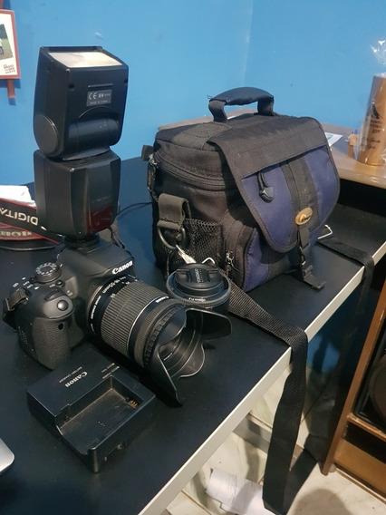 Canon T5i + Flash + Lentes 18-55 E Lente 50mm + Bolsa.