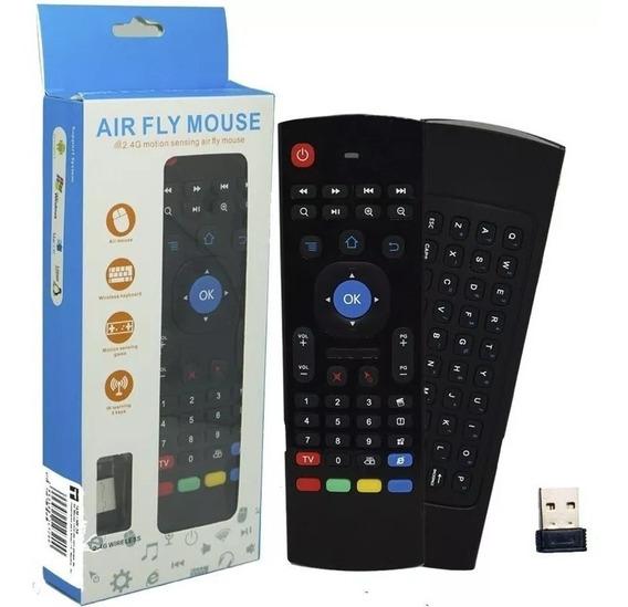 Controle Mini Teclado Air Mouse Wireless Sem Fio Android Tv