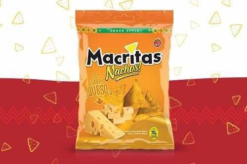 Snacks Macritas Nachos Saborizados 70gr (caja 12 Unidades)