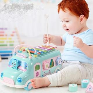 Bus Xilófono Didáctico Juguete Bebe Infantil Encajar Musical