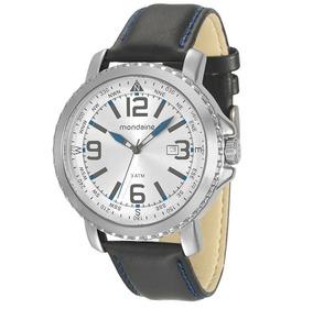 Relógio Mondaine Masculino Prata Couro 76690g0mvnh2 Mondaine