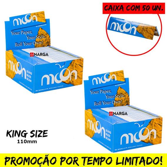 2 Caixa De Seda Moon Smoking King Size C/ 50un Preço Atacado