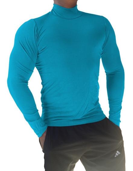 Blusa Camisa Masculina Confortável Gola Alta Manga Longa