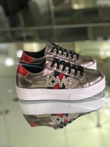 Tenis Prime Shoes - Gucci Inspired Com Aplicação Em Strass