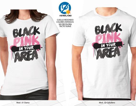 Black Pink In Your Area Playera Msi