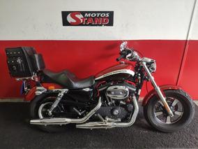 Harley Davidson Sportster Xl 1200 Custom Ca 2013 Vermelha