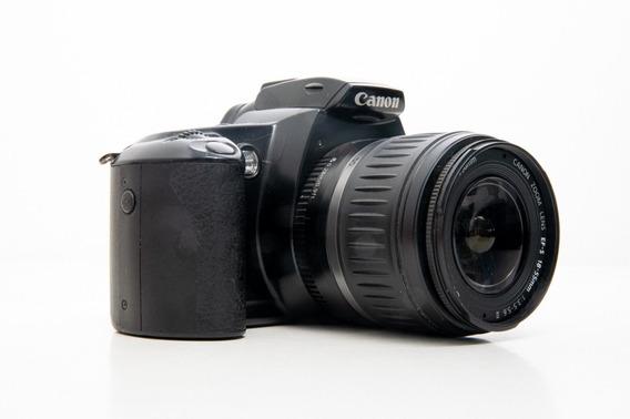 Câmera Analógica Canon Eos 3000 Quartz Date C/ Lente 18-55