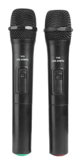 2 Pcs Inteligente Microfones Sem Fio Handheld Mic Com Usb