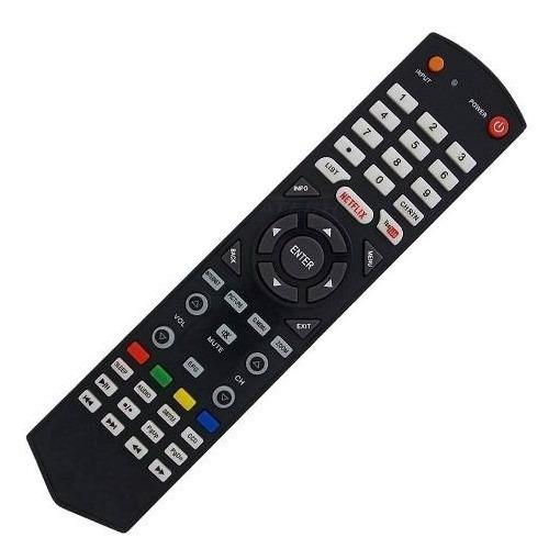 Controle Remoto Tv Semp Toshiba Led Smart Netflix Youtube