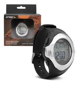 Monitor Cardíaco Atrio Es094 Preto Cromado Relógio Corrida