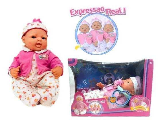 Bebê Fofucha C/ Expressão Real Brinquedo Menina