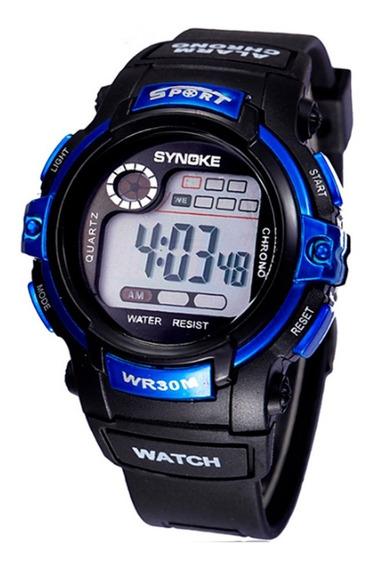 Relógio Infantil Synoke Sport Luz De Led, Alarme Cronômetro