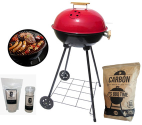 Grillstore - Round Grill + Carbon 2kg + Sal De Maras