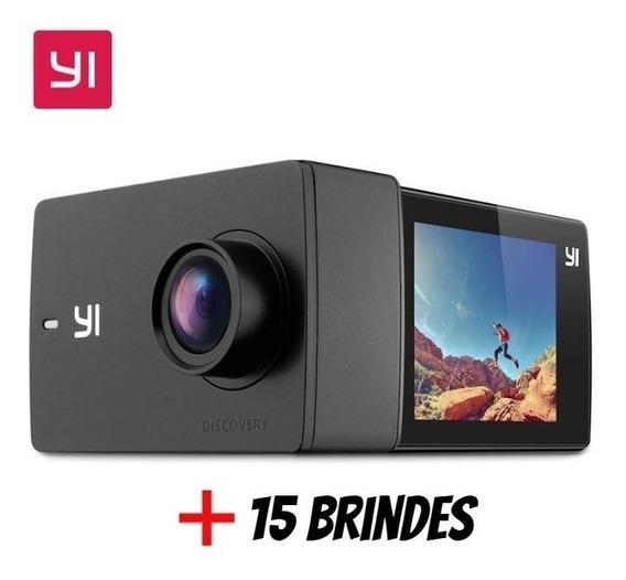 Câmera Xiaomi Yi Discovery 4k + Caixa Estanque + 15 Brindes