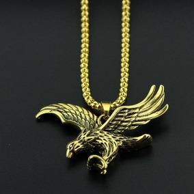 Colar Águia Pingente Falcão Ouro Cordão Frete Grátis