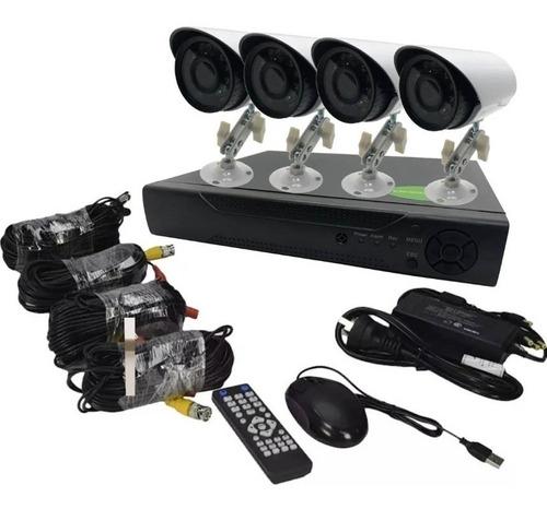 Imagen 1 de 10 de Kit Seguridad Cctv Dvr 4ch Full Hd 1080p 4 Camaras Hd  P2p