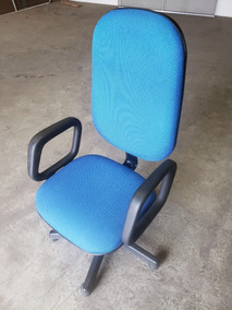 Cadeira Presidente De Escritório Giratória Azul