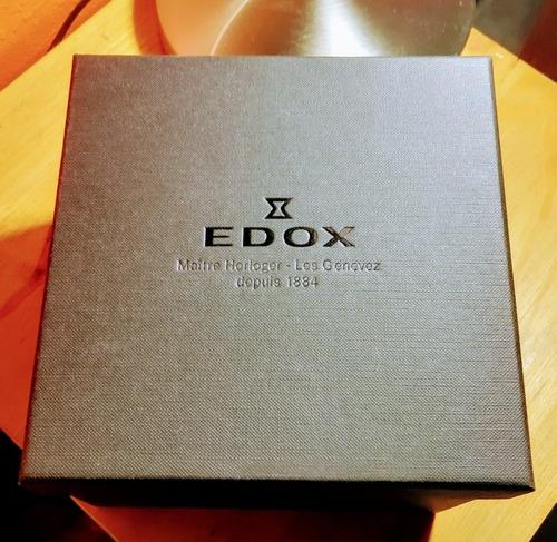 Reloj Ph Edox Les Vauberts Enchapado Y Cuero