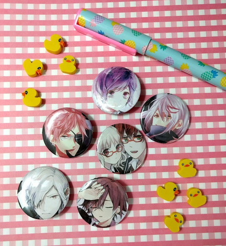 Set De 6 Pins Prendedores De Anime Diabolik Lovers Pines