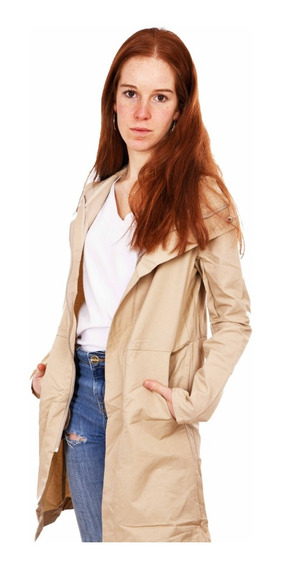 Customs Ba Trench Mujer Piloto Campera Rompevientos Pilotos Beige Negro Impermeable