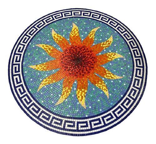 Imagen 1 de 3 de Mosaico Veneciano Figura Medallón Sol  Para Alberca De 1.00m