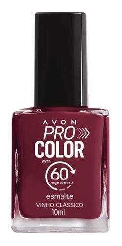 Imagem 1 de 1 de Avon - Pro Color 60 Segundos - Esmalte - Vinho Clássico