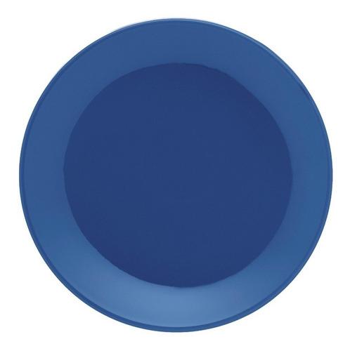 Set X 6 Plato Postre Oxford Unni 19 Cm Vajilla Ceramica Azul
