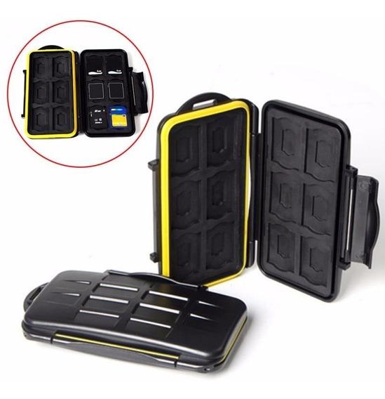 Case Porta Cartão De Memória Para 12 Sd + 12 Micro Sd Estojo