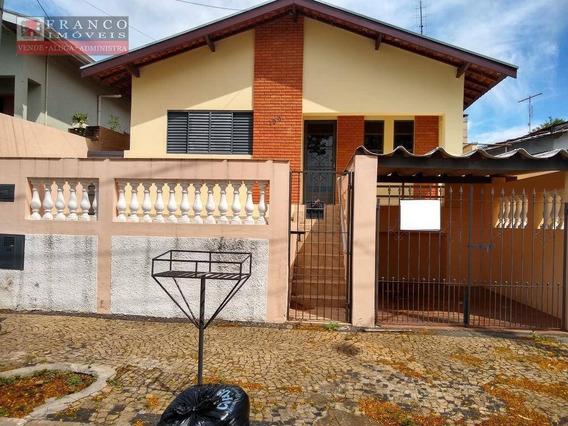 Casa Com 2 Dormitórios Para Alugar, 150 M² Por R$ 1.700/mês - Vila Santo Antônio - Valinhos/sp - Ca0583