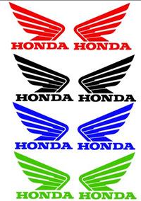 Adesivo Asas Honda Plotado Para Tanque Motos Personalizada