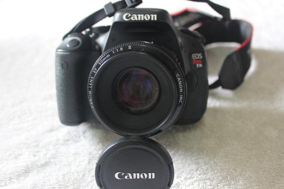 Canon T3i Com Lente 50mm