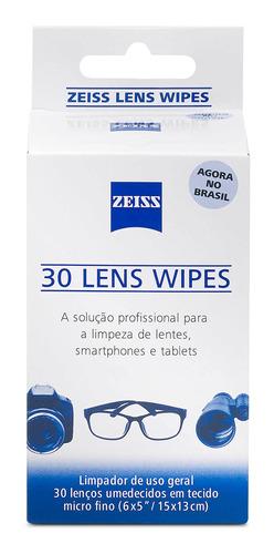 Kit Lens Wipes Zeiss Com 60 Lenços Umedecidos