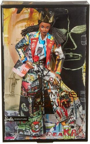 Imagem 1 de 9 de Barbie Collector Jean-michel Basquiat X 2020 Negra Articulad