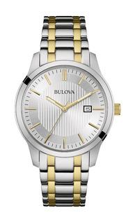 Reloj Bulova 98b263 Hobre Acero Dorado Y Plateado Calendario